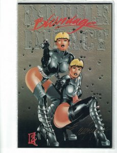 Double Impact #3 VF/NM Blondage Edition signed by Enrique E Carrelero with COA