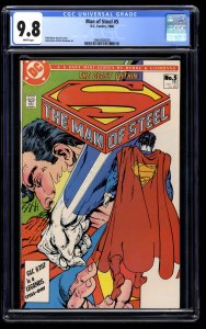 Man of Steel #5 CGC NM/M 9.8 White Pages