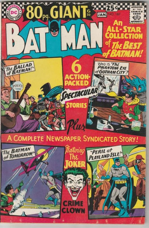 Batman #187 (Dec-66) VF High-Grade Batman