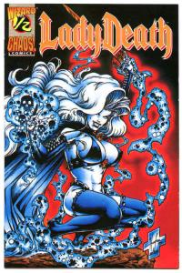 LADY DEATH #1/2, NM-, Wizard Mail away, 1994, Steven Hughes, Brian Pulido