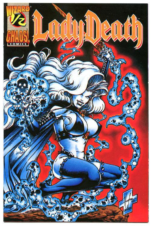 LADY DEATH #1/2, NM-, Wizard Mail away, 1994, Steven Hughes, Brian Pulido