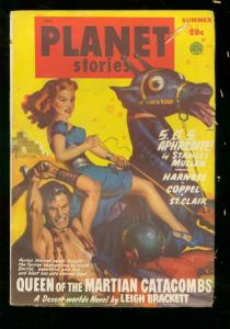 PLANET STORIES-SUMMER 1949-FICTION HOUSE-ALLAN ANDERSON FN-