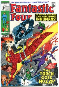 FANTASTIC FOUR #99, VF, InHumans, Black Bolt, Jack Kirby, 1961,more in store,QXT