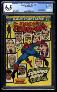 Amazing Spider-Man #121 CGC FN+ 6.5 White Pages Death of Gwen Stacy!