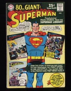 Superman #183 VG+ 4.5 80 Page Giant G-18!