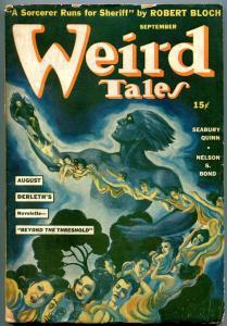 Weird Tales Pulp September 1941- Brundage cover-Seabury Quinn- August Derleth