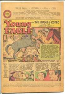 Young Eagle #8 1958-Fawcett-3 Chapter story-Rogue's Rodeo-P