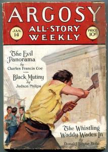 Argosy All-Story Weekly January 14 1928- Black Mutiny- Evil Panorama VG
