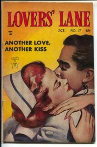 Lover's Lane #17 1951-Lev Gleason-nurse embrace cover-roller coaster-VG