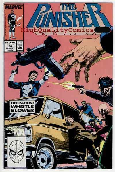 PUNISHER #26, NM+, Mike Baron, Russ Heath, blood, 1987, more in our store