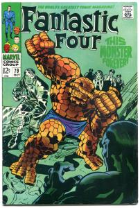 FANTASTIC FOUR #79, FN, Monster Forever, Jack Kirby, 1961, more FF in store, QXT