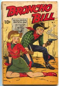 Broncho Bill #7 1948- Headlight cover- Western golden age VG-