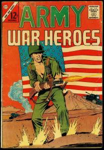 Army War Heroes #1 1963- Patriotic American Flag cover- Charlton G+