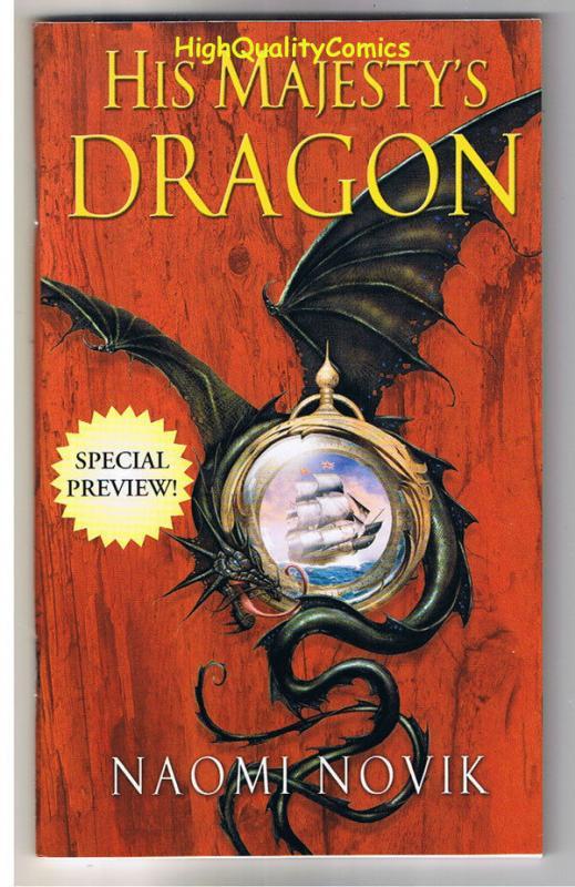 HIS MAJESTY'S DRAGON Preview, NM, Promo, Naomi Novik, 2006