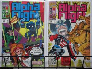 ALPHA FLIGHT  (Marvel, 1983) #102-103 El Equipo Primero complete!VFNM USAgent!
