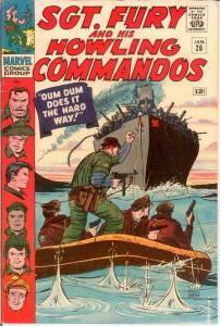 SERGEANT FURY 26 F+   January 1966 COMICS BOOK