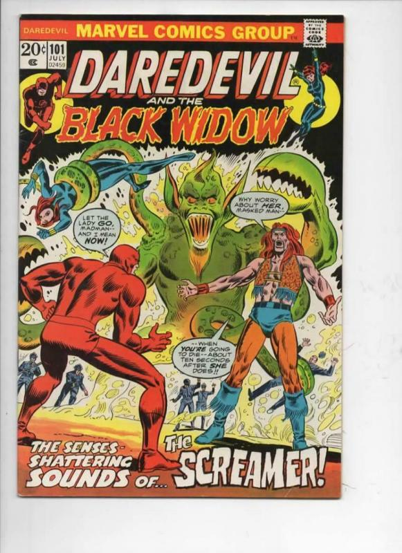 DAREDEVIL #101 VG+ Angar, Murdock, Black Widow, 1964 1973, Marvel