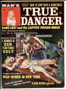 Man's True Danger October 1965- Zen Torture Cult- cheesecake FN