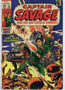 Captain Savage #13 ORIGINAL Vintage 1969 Marvel Comics