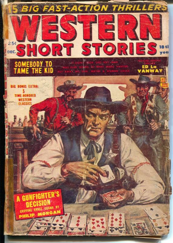 Western Short Stories12/1954-Red Circle-Norman Saunders-Fredric Brown-G