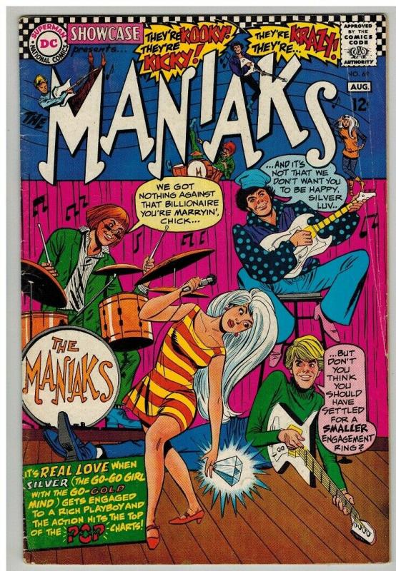 SHOWCASE  69 GOOD July 1967  MANIAKS