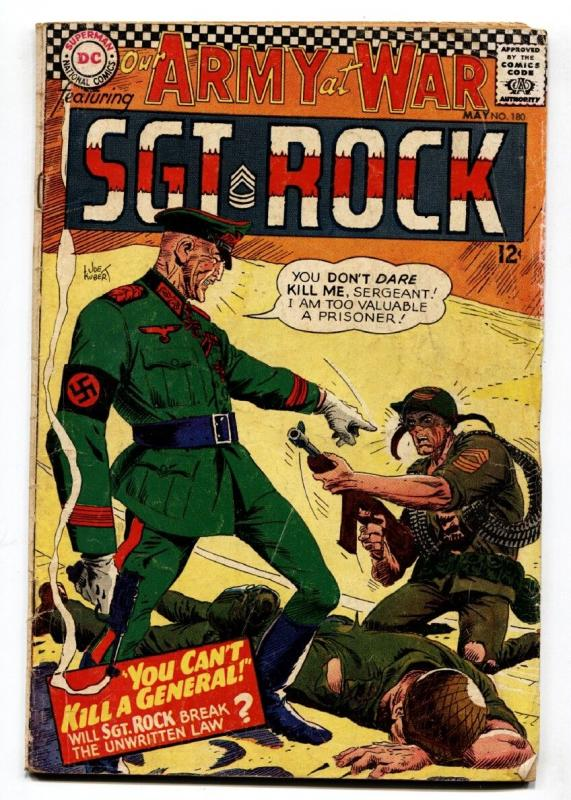 OUR ARMY AT WAR #180 comic book 1967- DC WAR COMIC-SGT. ROCK