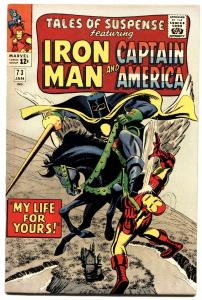 TALES OF SUSPENSE #73-IRON MAN/CAPTAIN AMERICA-HI GRADE VF