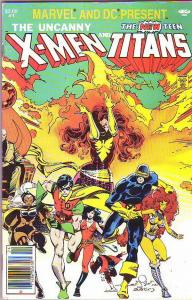 Marvel and DC Present X-Men and Teen Titans #1 (Jan-82) VF High-Grade The New...