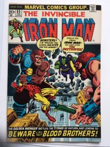 IRON MAN #55 VF- 1ST THANOS! SIGNED JIM STARLIN! THE ULTIMATE THANOS COLLECTION!