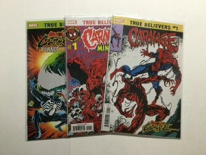 Amazing Spider-Man 361 True Believers Absolute Carnage 3 issue Lot Near Mint