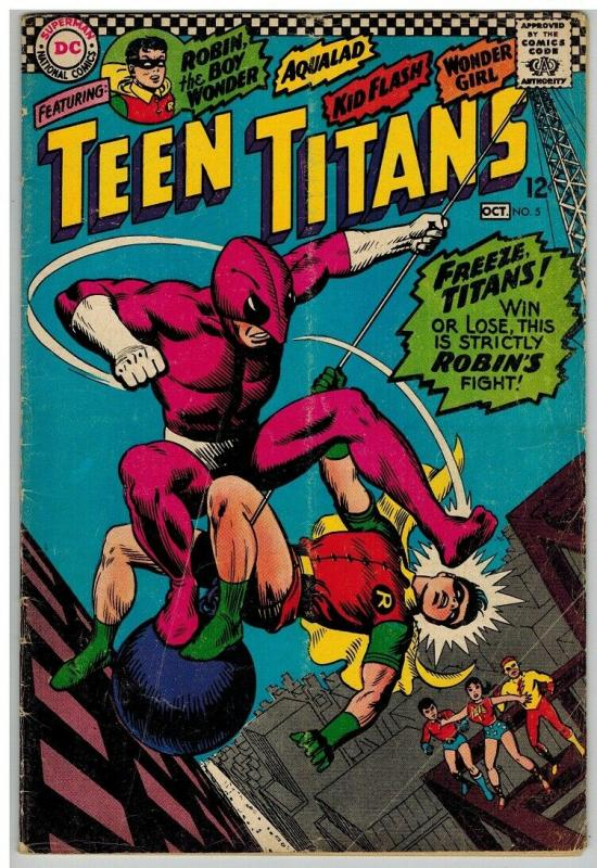TEEN TITANS (1966) 5 GD+ Oct. 1966