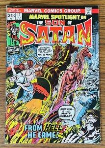 MARVEL SPOTLIGHT #12 ORIGIN 2ND FULL SON OF SATAN 1973 Marvel Comics John Romita