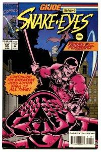 G.I. JOE #141 1993- late issue low print run- Snake Eyes VF