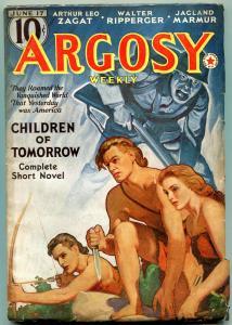 Argosy Pulp June 17 1938- Children of Tomorrow- Belarksi cover FN