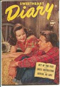 Sweetheart Diary #8 1951-Fawcett-plaid shirt photo cover-Skid Row story-VG