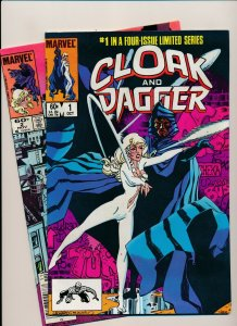 Marvel Lot of 2-CLOAK & DAGGER #1-2 1983 SIGNED by RICK LEONARDI F/VF (PF934)