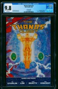 The Thanos Quest 2nd Print #2 CGC NM/M 9.8 White