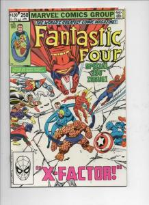 FANTASTIC FOUR #250 VF/NM X-Factor Spider-man 1961 1983 Marvel, more FF in store