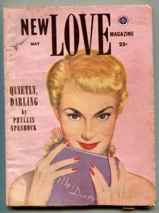 New Love Pulp May 1954- Quietly Darling VG/F