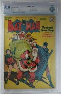 Batman #27~1945 DC~CBCS 6.5 (FN+)~Christmas Cover, Penguin Appearance
