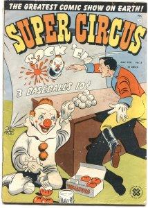 SUPER CIRCUS #3-1951-MARY HARTLINE-MAGIC-CLOWNS-RINGMASTER-CROSS