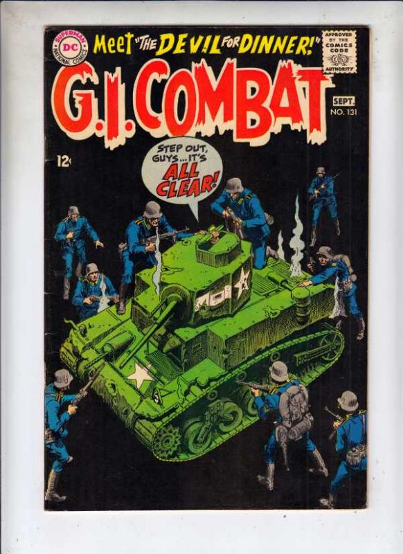 G.I. Combat #131 (Sep-68) VF High-Grade The Haunted Tank