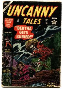 UNCANNY TALES #12-1953-HORROR-Bill Everett-Pre-code horror comic