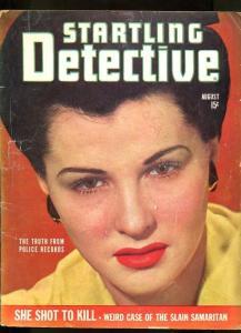 STARTLING  DETECTIVE-AUG-1943-G/VG-SPICY-MURDER-RAPE-MASSACRE G/VG