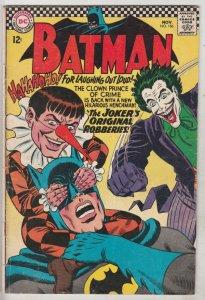 Batman #186 (Nov-66) FN+ Mid-High-Grade Batman