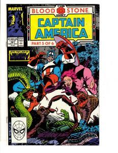 10 Captain America Marvel Comics # 361 362 363 364 365 366 367 368 369 370 DB1