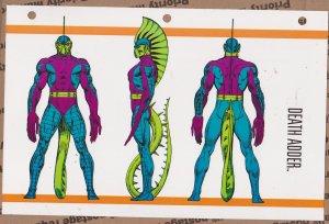 Official Handbook of the Marvel Universe Sheet- Death Adder