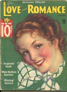 Dream World Love and Romance 1/1935-Gloria Warren cover-scandal, exploitation-VG