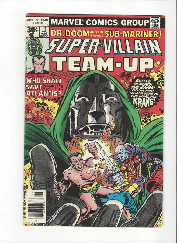 Super-Villain Team-Up #13 (1977) Marvel Comics Dr. Doom and Sub-Mariner VF