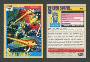 1991 Marvel Comics II  Card  #45 ( Silver Surfer )  NM-MT